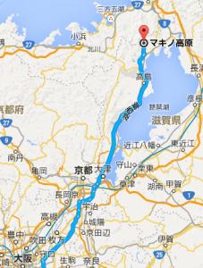 マキノ高原マップ