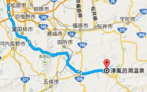津風呂湖温泉マップ